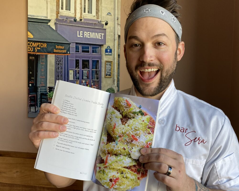 Chef Will with his Pieri Farm Recipe Book